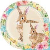 Watercolor Easter Bunny Party Supplies