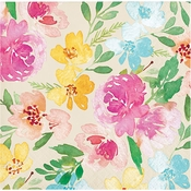 Watercolor Florals Beverage Napkins 192 ct