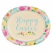 Watercolor Florals Oval Paper Plates 96 ct