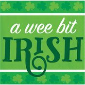 Wee Bit Irish St. Patricks Day Beverage Napkins 192 ct