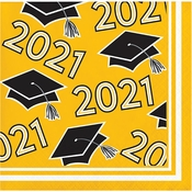 Yellow 2021 Grad Beverage Napkins 360 ct