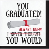 You Graduated Beverage Napkins 192 ct
