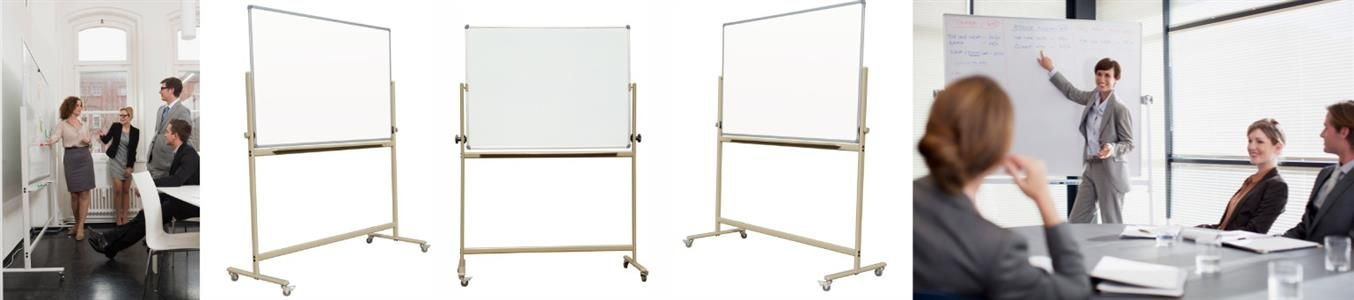 Reversible Mobile free Standing Dry Erase Whiteboards