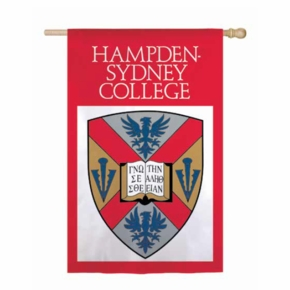 Hampden-Sydney College Shield 2 Sided Applique Flag
