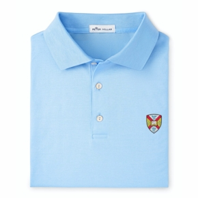 Peter Millar Hampden-Sydney Blue Cotton Polo Shirt