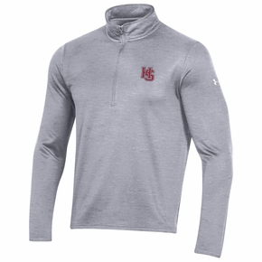 Under Armour Hampden-Sydney Gray 1/2 Zip Pullover