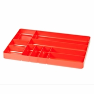 "Ernst 5010 11"" x 16"" Ten Compartment Toolbox Organizer Tray - Red"