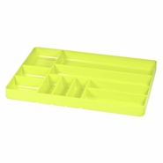 "Ernst 5017HV 11"" x 16"" Ten Compartment Toolbox Organizer Tray - HI-VIZ"