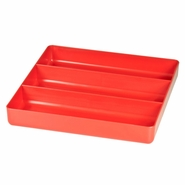 Ernst 5020 3 Compartment Toolbox Tray Organizer - ABS Plastic - Red