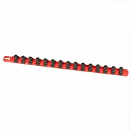 "Ernst 8401 18"" Socket Organizer Rail with 15 3/8"" Twist Lock Clips - Red"