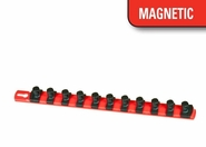 "ERNST 8416M 13"" 1/2"" Dr. Magnetic Socket Organizer Rail w/11 TWIST LOCK Clips"