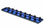 "Ernst 8459 3/4"" Drive ""Socket Boss"" 2 18"" Rail Socket Organizer Tray - Blue"