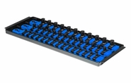 "Ernst 8491 SOCKET BOSS 3 Rail 13"" Socket Tray Organizer System - Blue"