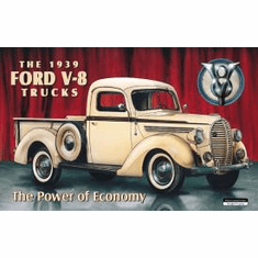 1939 Ford Pick Up Tin Signs