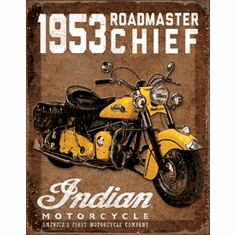 1953 Indian Roadmaster Tin Signs
