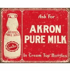 Akron Pure Milk Tin Signs