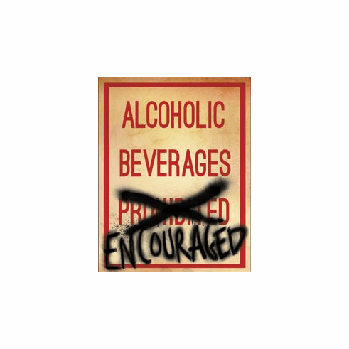 Alcoholic Beverages Tin Signs