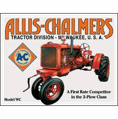 Allis Chalmers - Model U Tin Sign