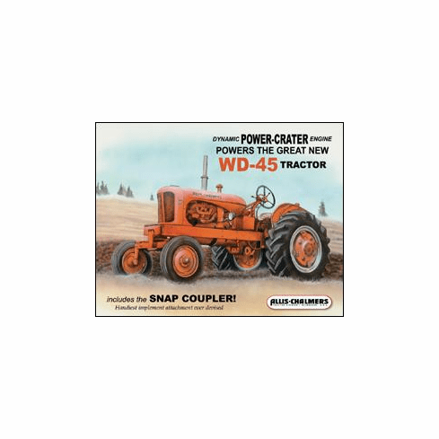 Allis Chalmers - WD45 Tin Sign