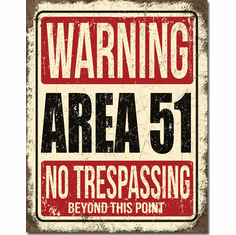 Area 51 Tin Signs