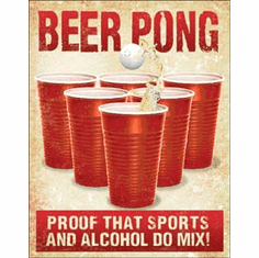 Beer Pong Tin Signs