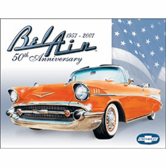 Bel Air - 50th Anniversary Tin Signs