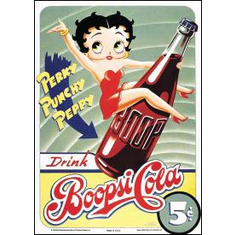 Boopsie Cola Tin Sign