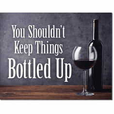 Bottled Up Tin Signs