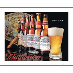 BUD - History of Bud Tin Sign