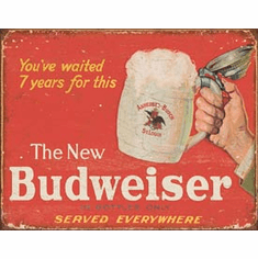 Budweiser - The New Tin Signs
