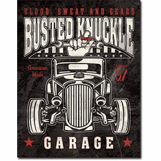 Busted Knuckle - Rod Tin Sign