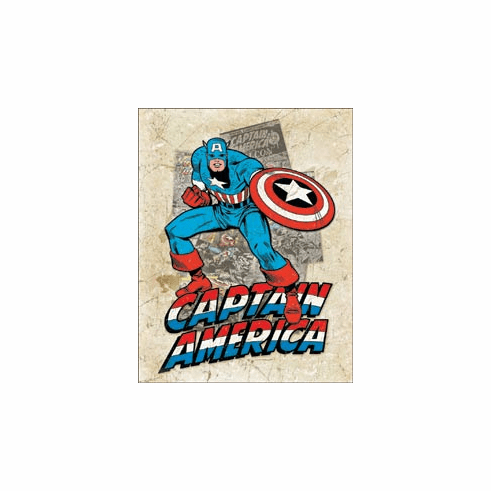 Capt America - Cover Splash Tin Signs