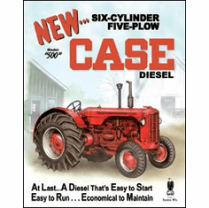Case - 500 Diesel Tin Sign