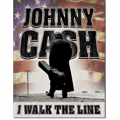 CASH - Walk the Line Tin Signs
