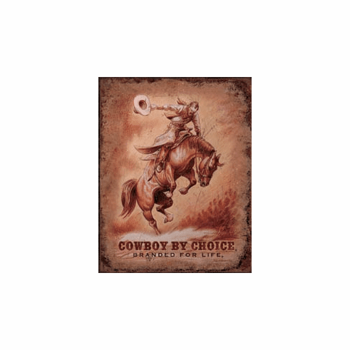 CBC - Saddle Bronc Tin Signs