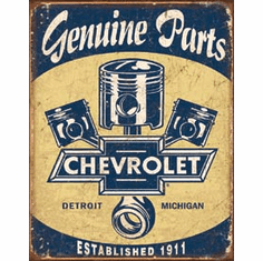 Chevy Parts - Pistons Tin Signs