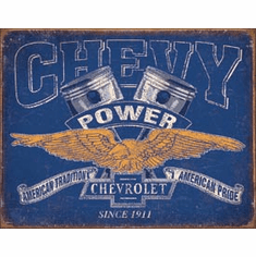 Chevy Power Tin Signs