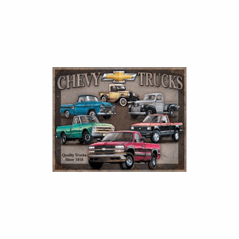 Chevy Truck Tribute Tin Signs