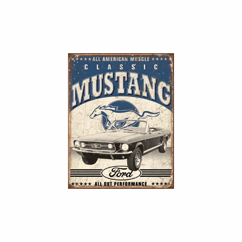 Classic Mustang Tin Signs