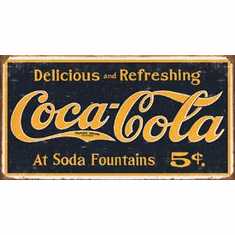 COKE - 1910 Logo Weathered Tin Sign