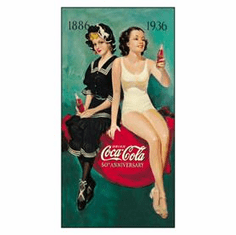 COKE - 50th Annv. Bathers Tin Sign