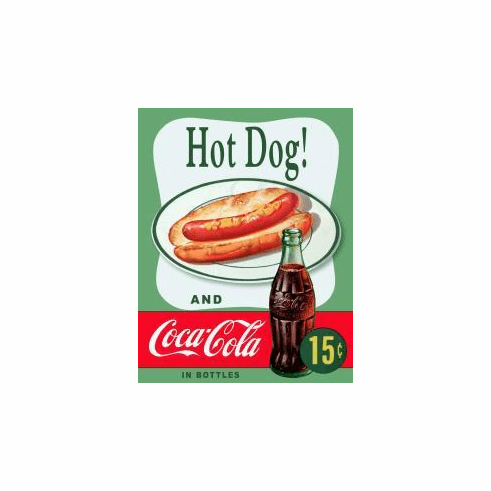 Coke Hot Dog Tin Signs