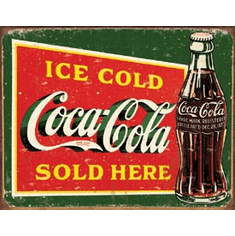 COKE - Ice Cold Green Tin Sign