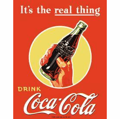 COKE Real Thing - Bottle Tin Signs