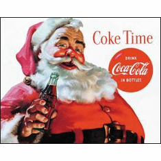 COKE Santa - COKE Time Tin Signs
