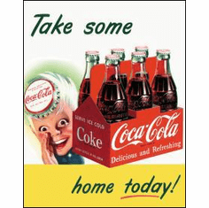 COKE Sprite Boy Tame Home Tin Sign