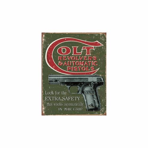 COLT - Extra Safety Tin Sign