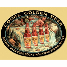 Coors Waterfall Tin Signs
