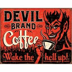 Devil Brand Coffee Tin Signs