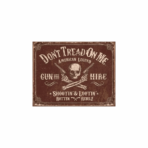 DTOM - Gun for Hire Tin Signs